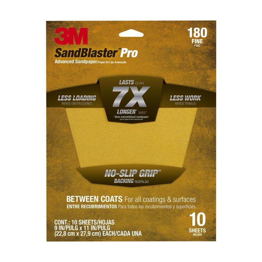 3M 9-in W x 11-in L 180-Grit Commercial Sandpaper Sheet