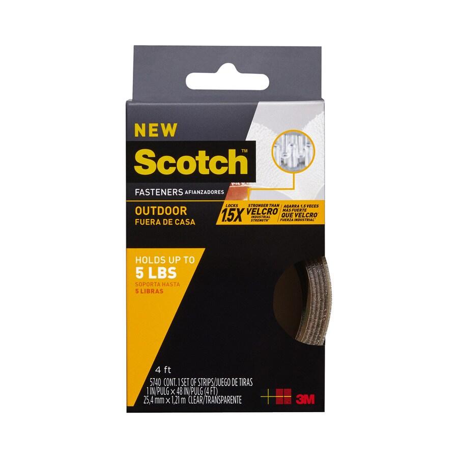 Scotch 1-in x 48-in Clear Roll Fastener