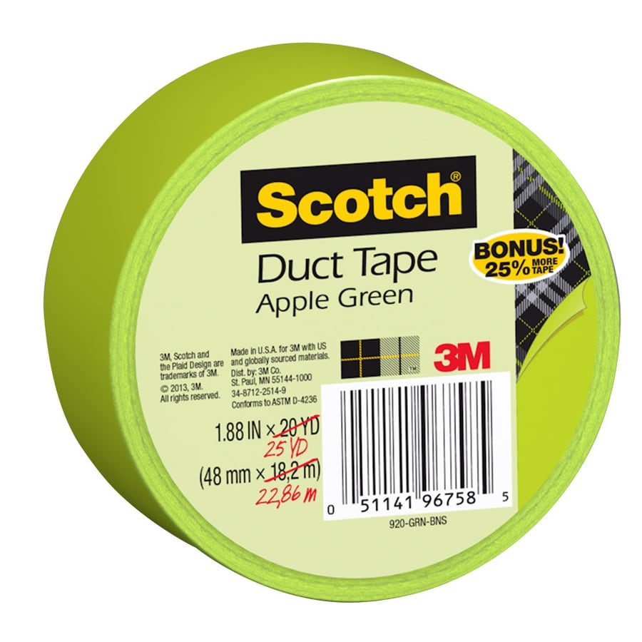 Scotch 1.88-in x 75-ft Green Duct Tape