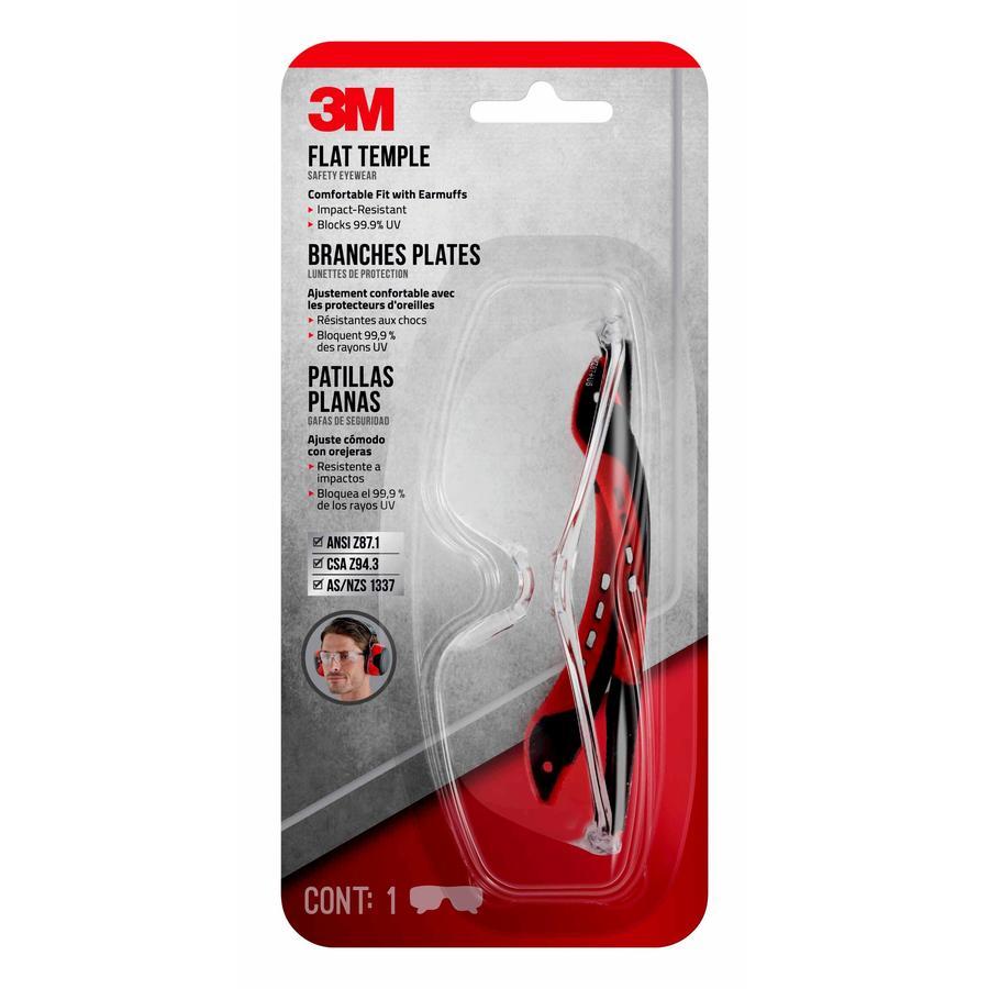 3M Safety Eyewear Blck/Clr/Sr