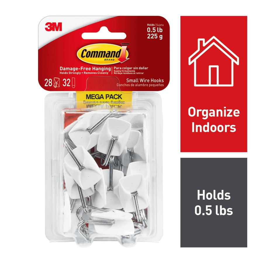Command 28-Pack Plastic and Wire Adhesive Hooks
