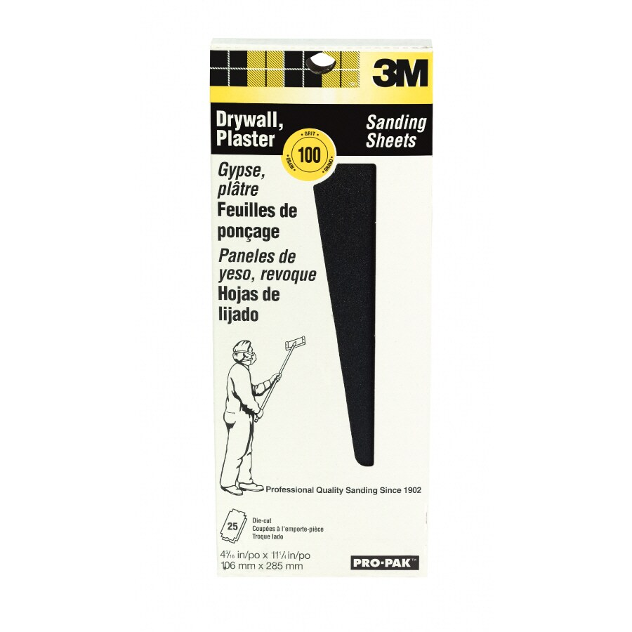 3M 25-Pack 4.1875-in W x 11.25-in L 100-Grit Commercial Drywall Sandpaper