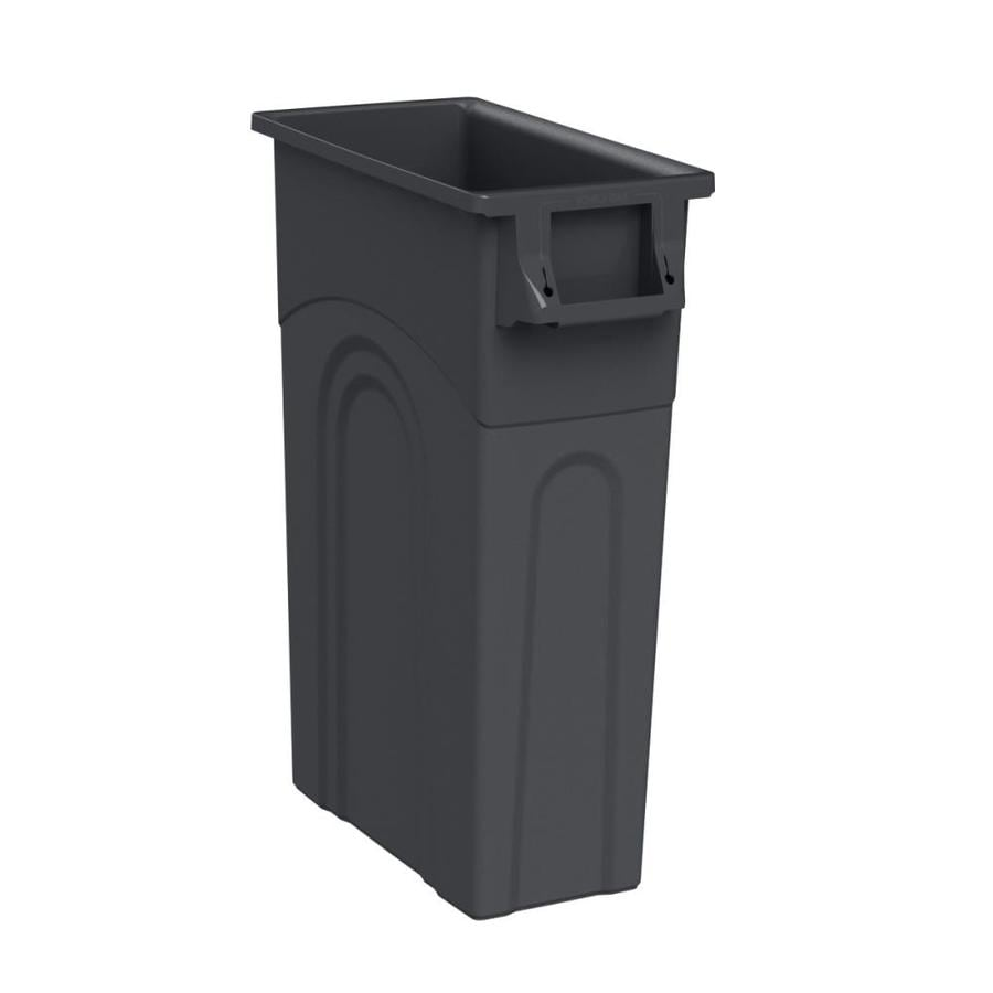 Blue Hawk 23-Gallon Black Plastic Touchless Trash Can