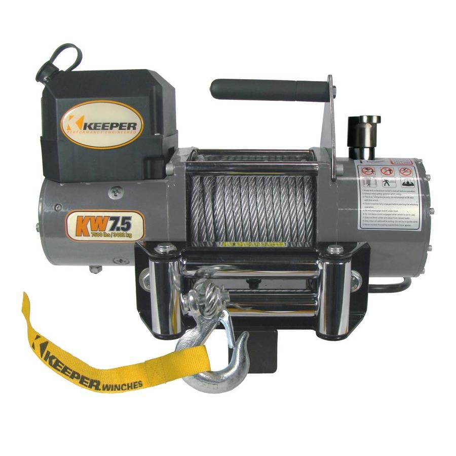 Keeper 4.5-HP 7,500-lb Universal Winch