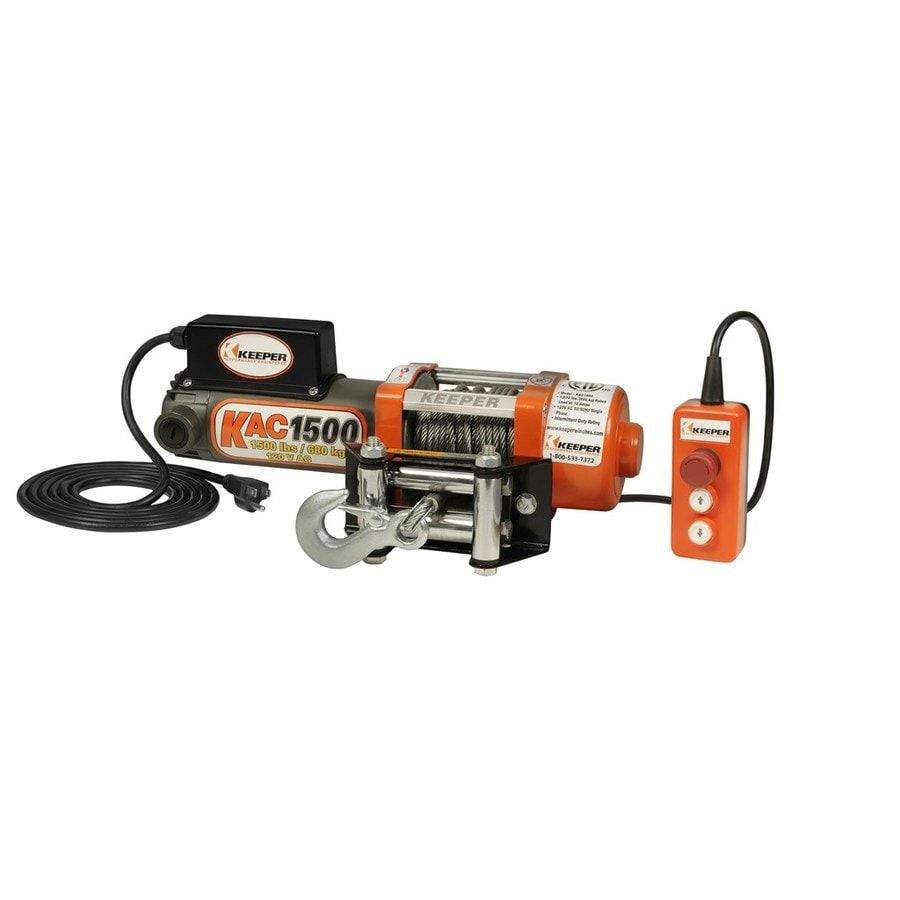 Keeper 1-HP 1,500-lb Capacity Universal Winch