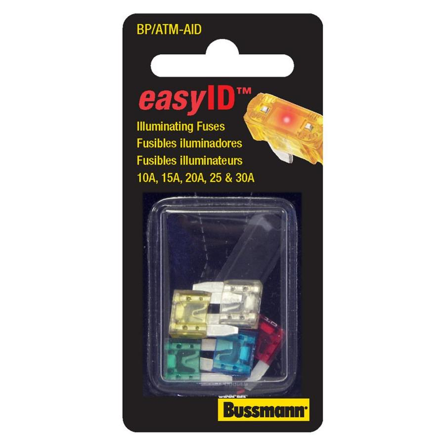 Cooper Bussmann ATM EasyID Assortment, Contains 1 Ea 10, 15, 20, 25, 30A, Carded