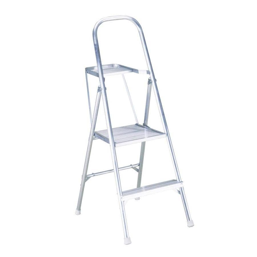 Shop Werner 2 Step Aluminum Aluminum Step Stool At Lowes Com