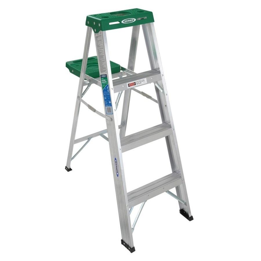 Werner 4-ft Aluminum 225-lb Type II Step Ladder