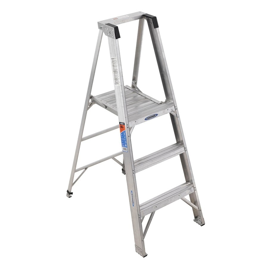 Shop Werner 3 Ft Aluminum 300 Lb Type Ia Platform Ladder