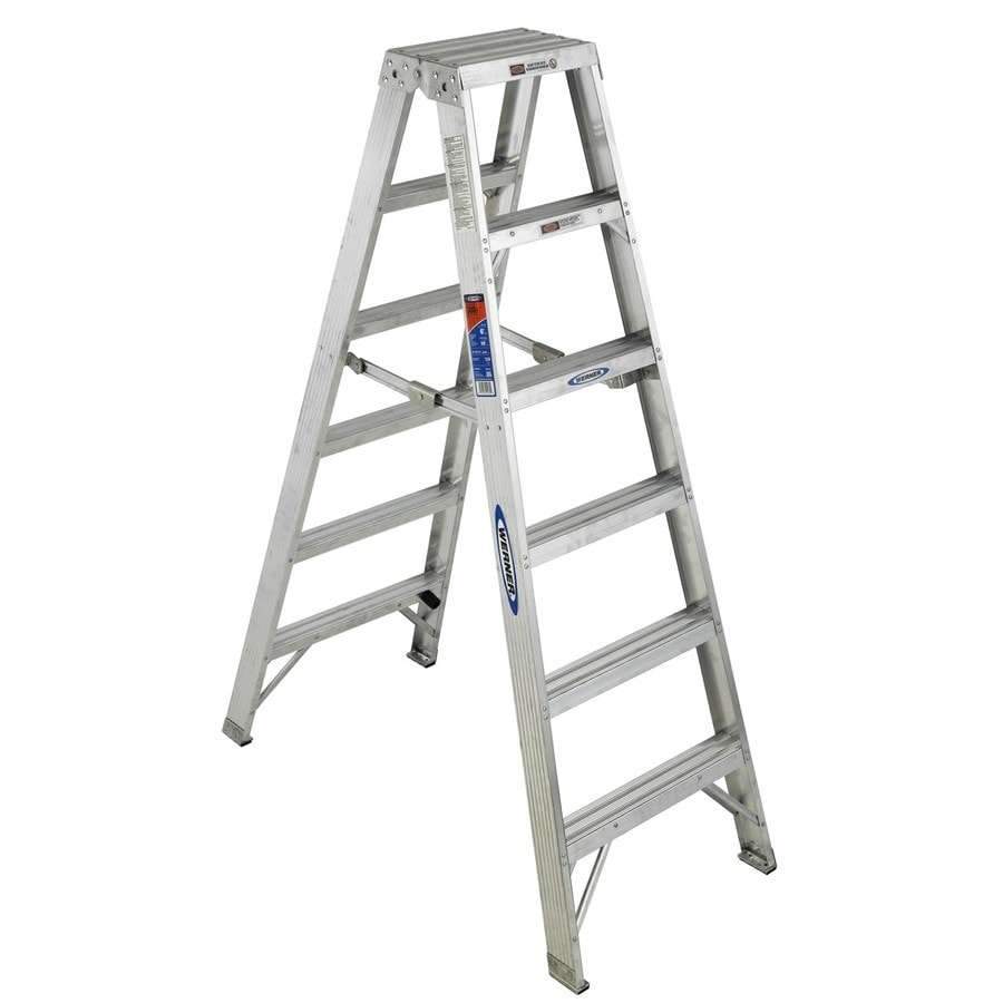 Werner 6-ft Aluminum 300-lb Type IA Twin-Step Ladder