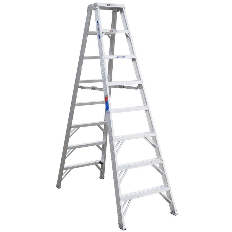 Werner 8-ft Aluminum 300-lb Type IA Twin-Step Ladder