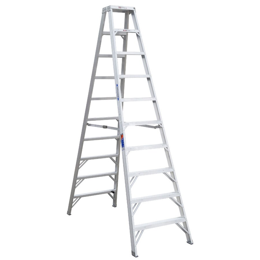 Werner 10-ft Aluminum 300-lb Type IA Twin-Step Ladder