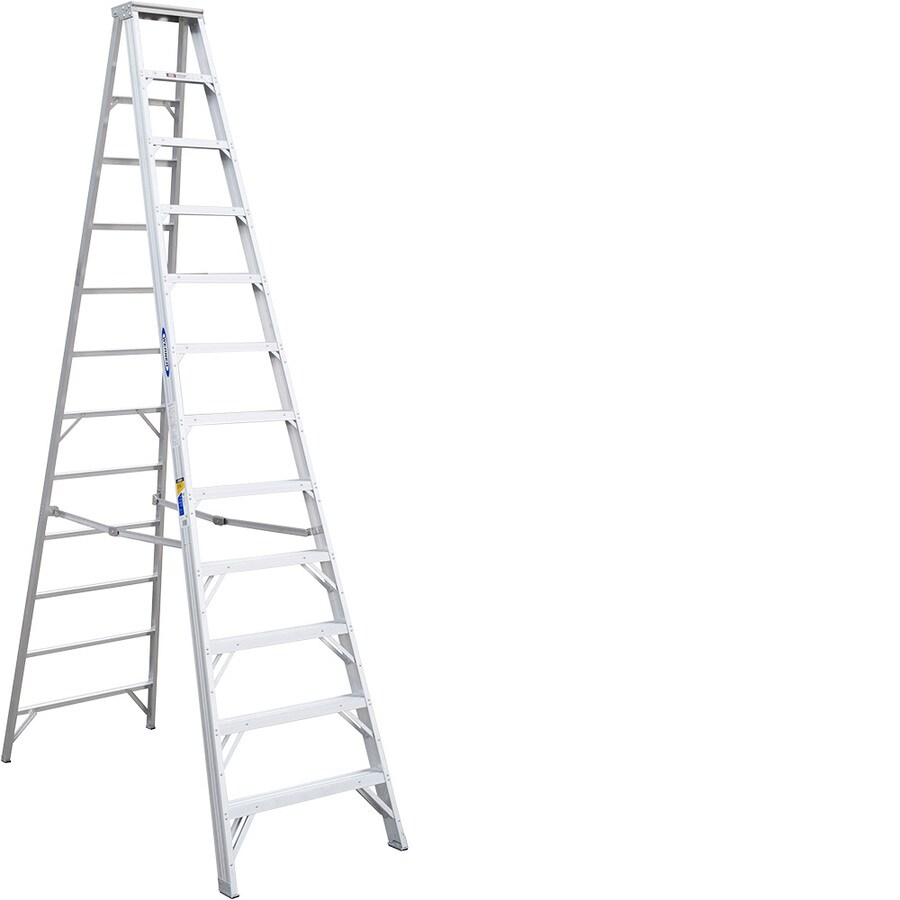Werner 12-ft Aluminum 375-lb Type IAA Step Ladder
