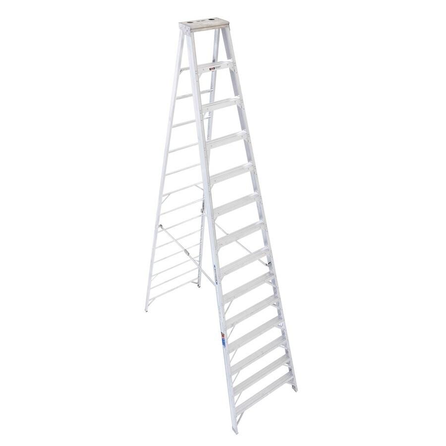 Werner 14-ft Aluminum 300-lb Type IA Step Ladder