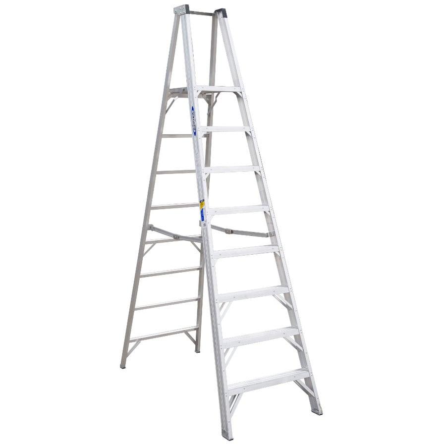 Werner 8-ft Aluminum 300-lb Type IA Platform Ladder