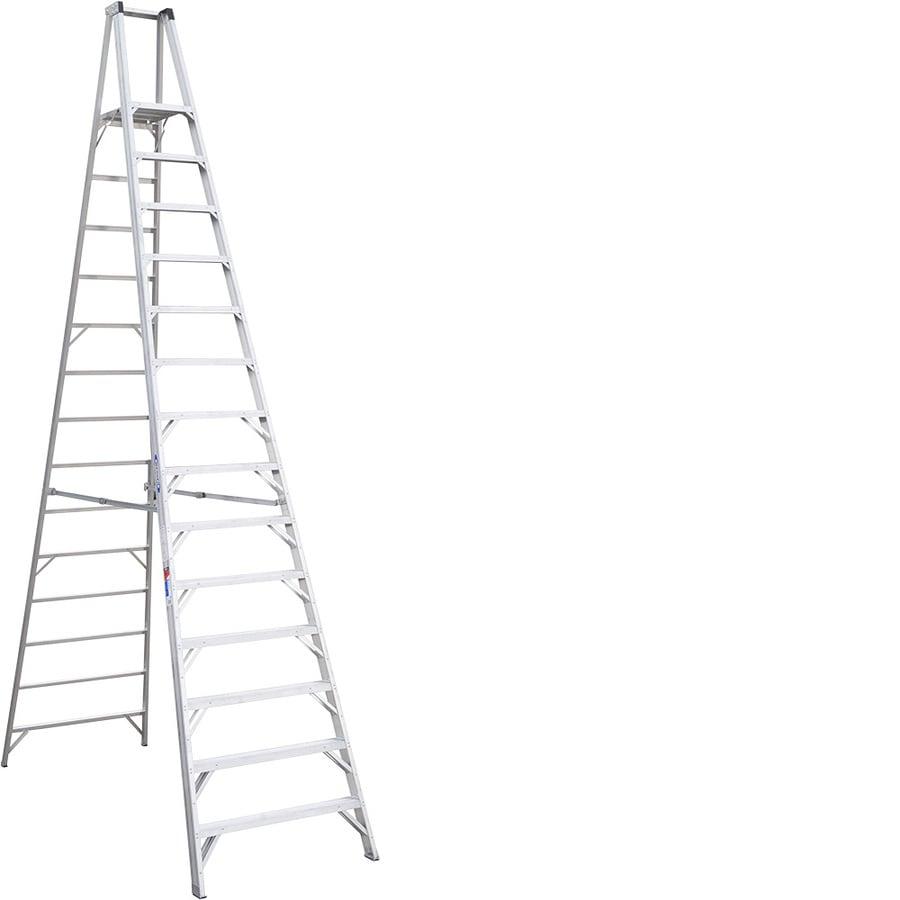 Werner 14-ft Aluminum 300-lb Type IA Platform Ladder