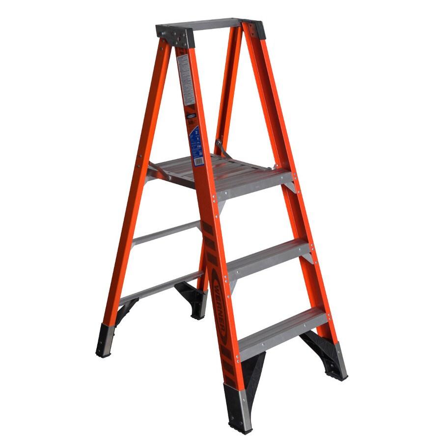 Shop Werner 3 Ft Fiberglass 300 Lb Type Ia Platform Ladder
