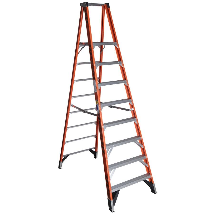 Werner 8-ft Fiberglass 375-lb Type IAA Platform Ladder