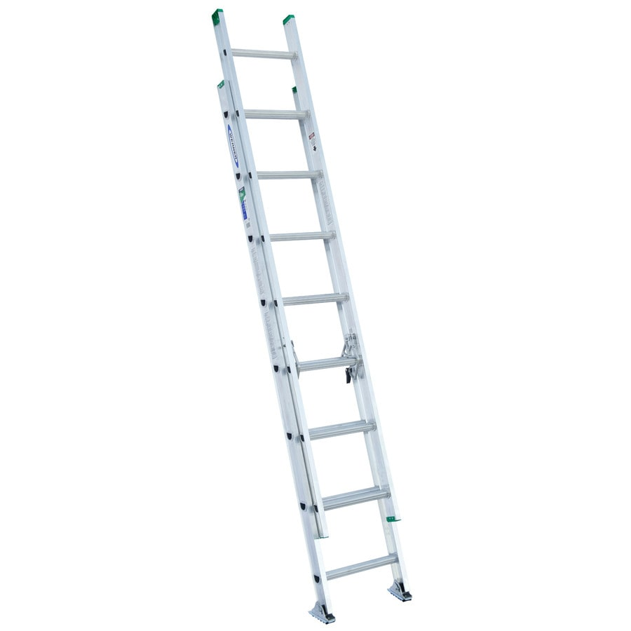 Shop Werner 16 Ft Aluminum 225 Lb Type Ii Extension Ladder