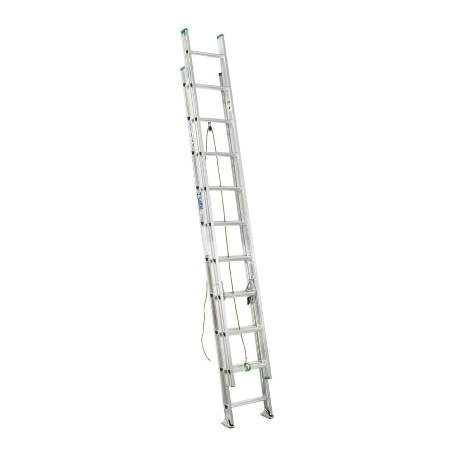 Werner 20-ft Aluminum 225-lb Type II Extension Ladder
