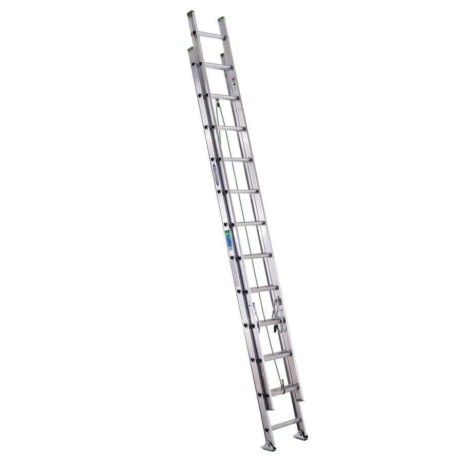 Shop Werner 24 Ft Aluminum 225 Lb Type Ii Extension Ladder