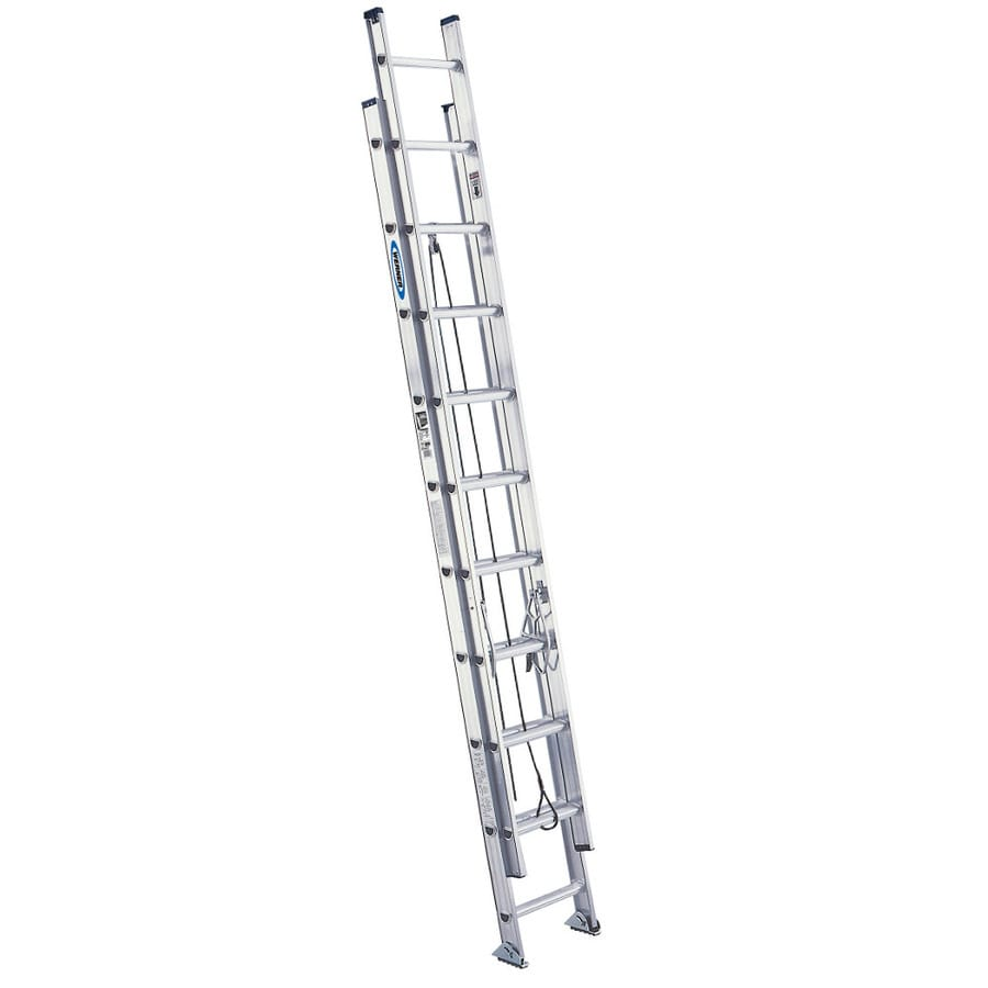 Shop Werner 20 Ft Aluminum 300 Lb Type Ia Extension Ladder