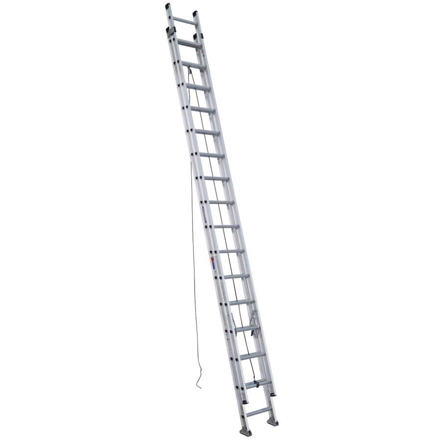 Shop Werner 32 Ft Aluminum 300 Lb Type Ia Extension Ladder