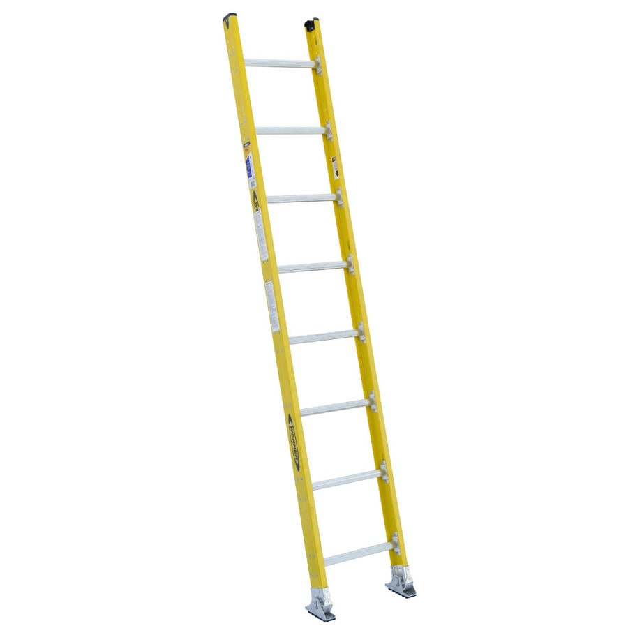 Werner 8-ft Fiberglass 375-lb Type IAA Straight Ladder