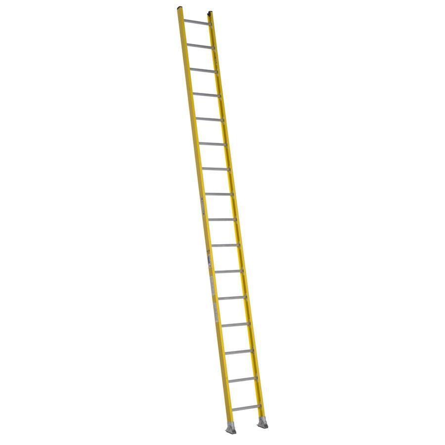 Werner 16-ft Fiberglass 375-lb Type IAA Straight Ladder