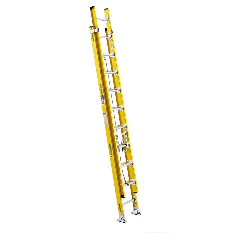 Werner 20-ft Fiberglass 375-lb Type IAA Extension Ladder