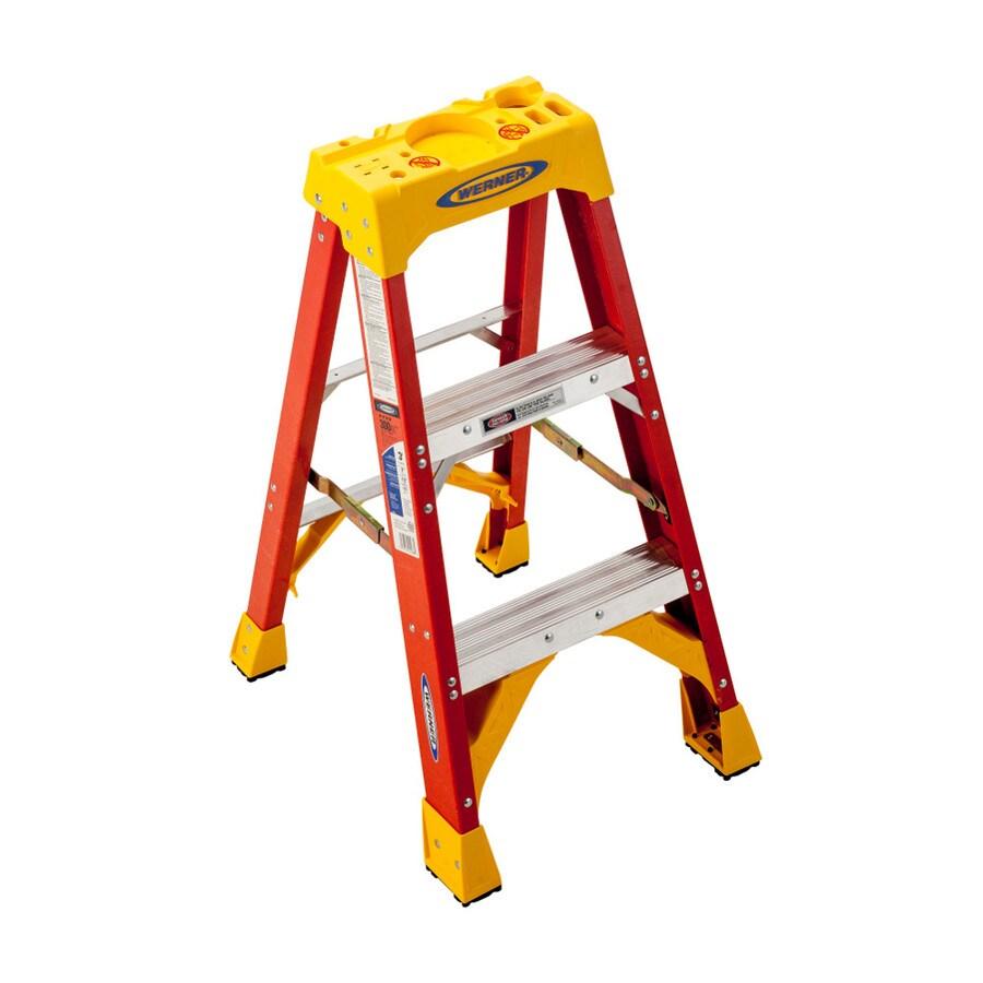 Werner 3-ft Fiberglass 300-lb Type IA Step Ladder