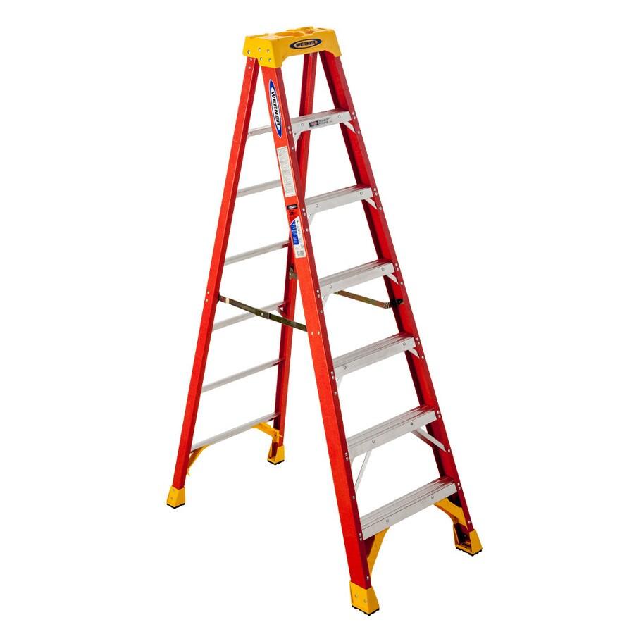 Werner 7-ft Fiberglass 300-lb Type IA Step Ladder
