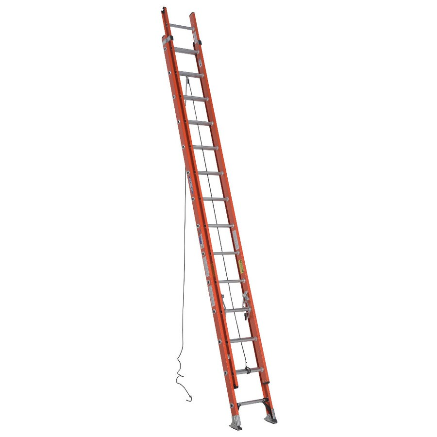 Werner 28-ft Fiberglass 300-lb Type IA Extension Ladder