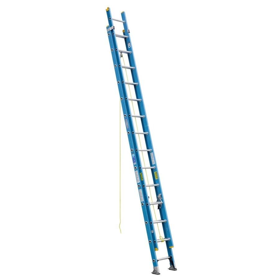 Werner 28-ft Fiberglass 250-lb Type I Extension Ladder