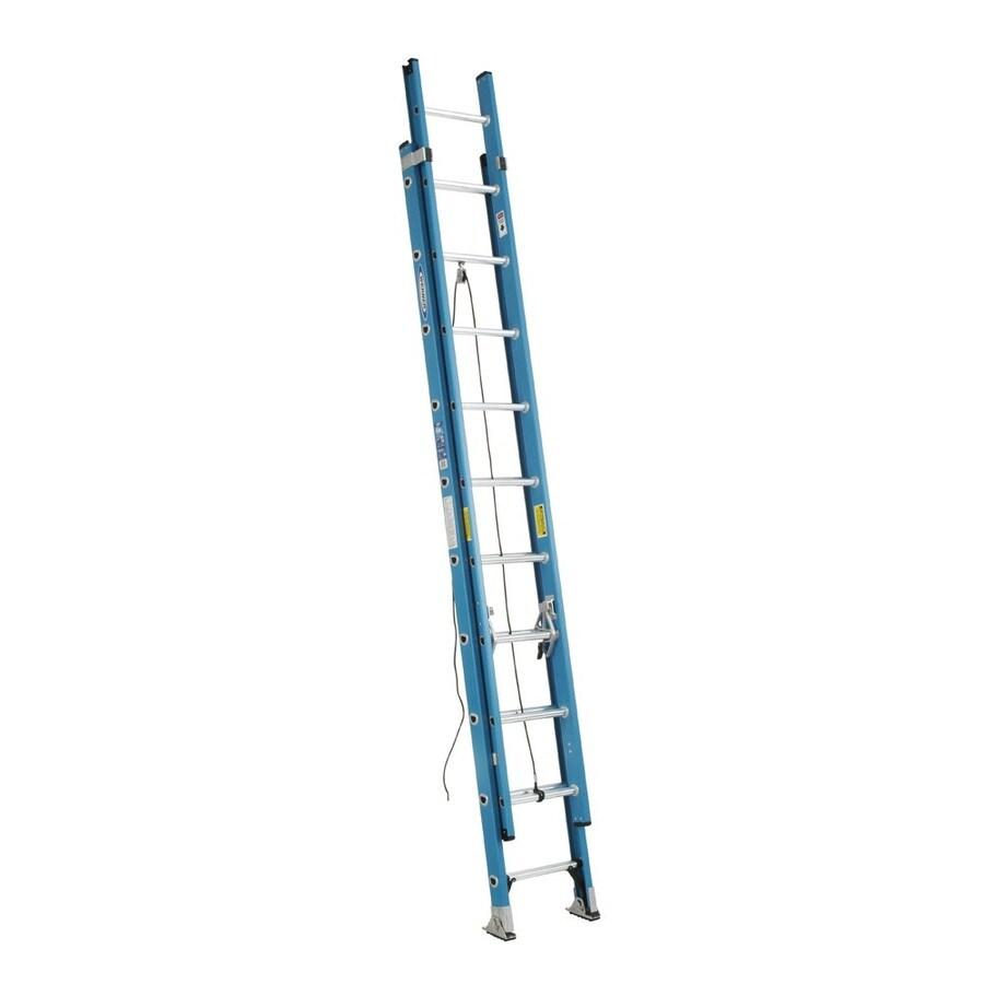 Werner 20-ft Fiberglass 250-lb Type I Extension Ladder
