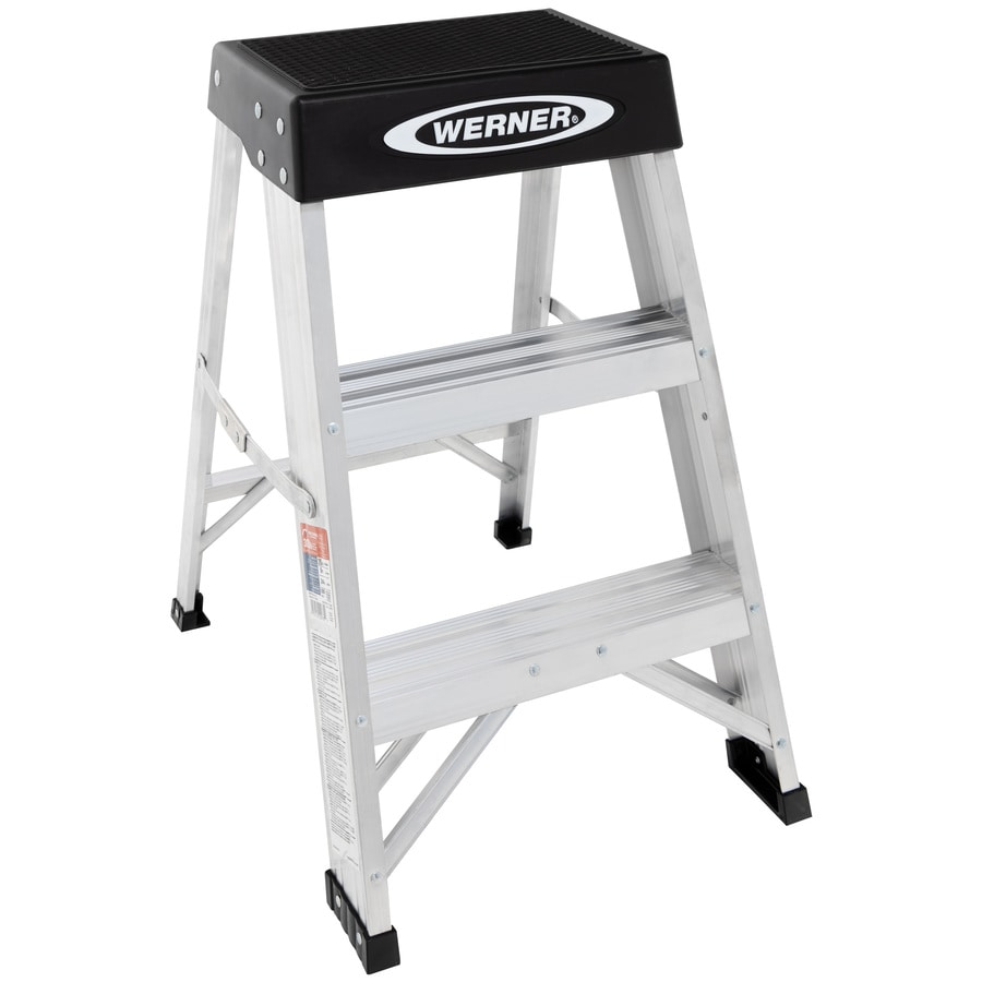 Werner 2-ft Aluminum 300-lb Type IA Step Ladder