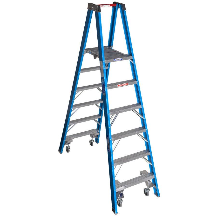 Werner 6-ft Fiberglass 250-lb Type I Stocker's Ladder
