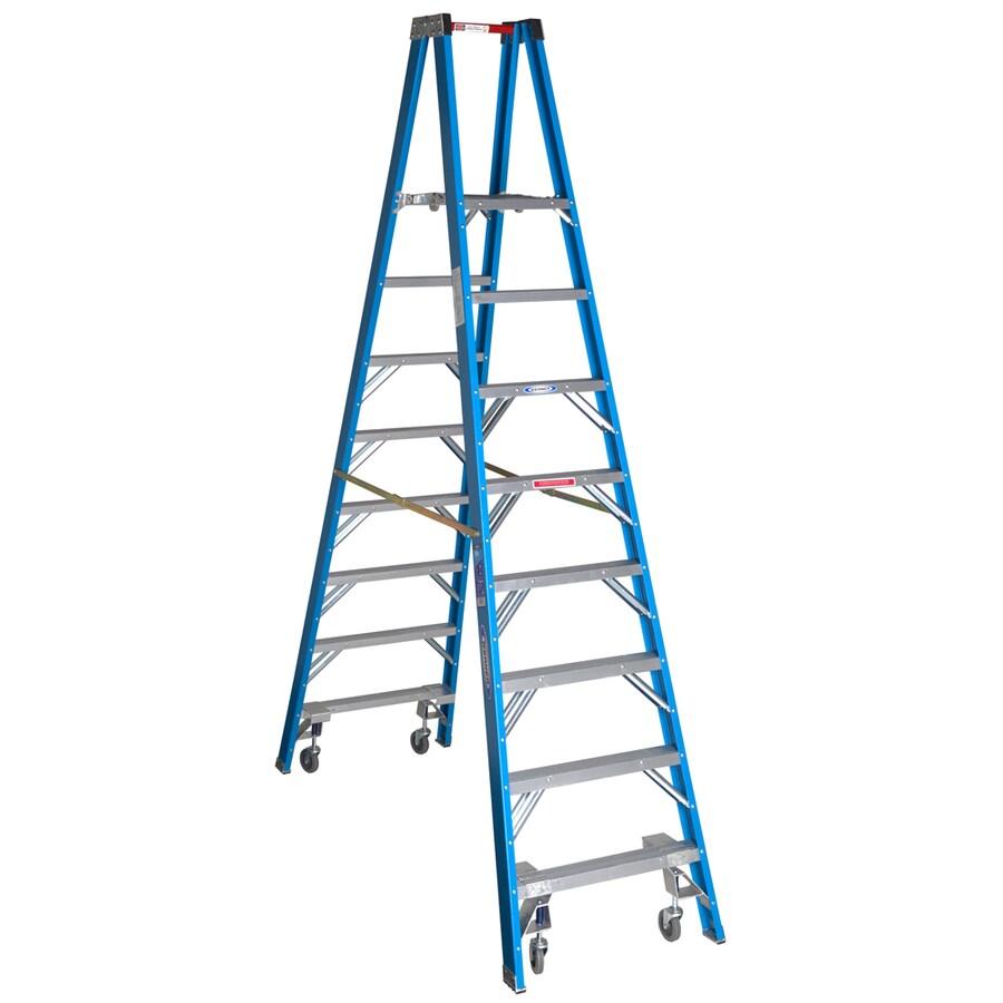 Werner 8-ft Fiberglass 250-lb Type I Stocker's Ladder