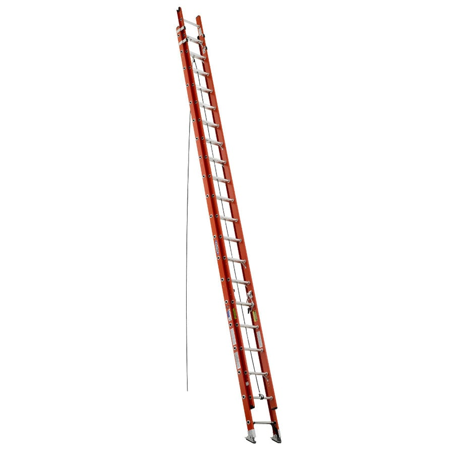 Werner 40-ft Fiberglass 300-lb Type IA Extension Ladder