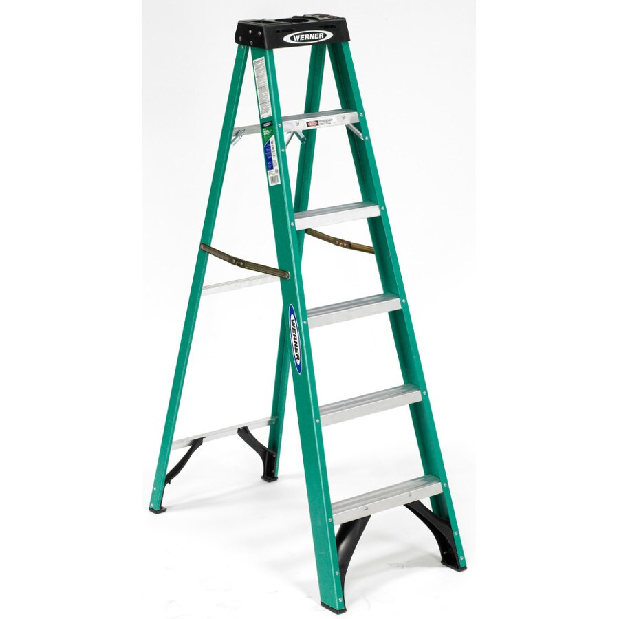 Werner 6-ft Fiberglass 225-lb Type II Step Ladder
