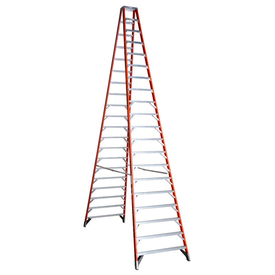 Shop Werner 20 Ft Fiberglass 300 Lb Type Ia Step Ladder At