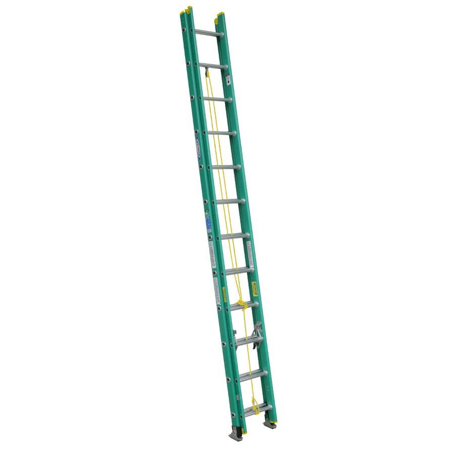 Werner 24-ft Fiberglass 225-lb Type II Extension Ladder