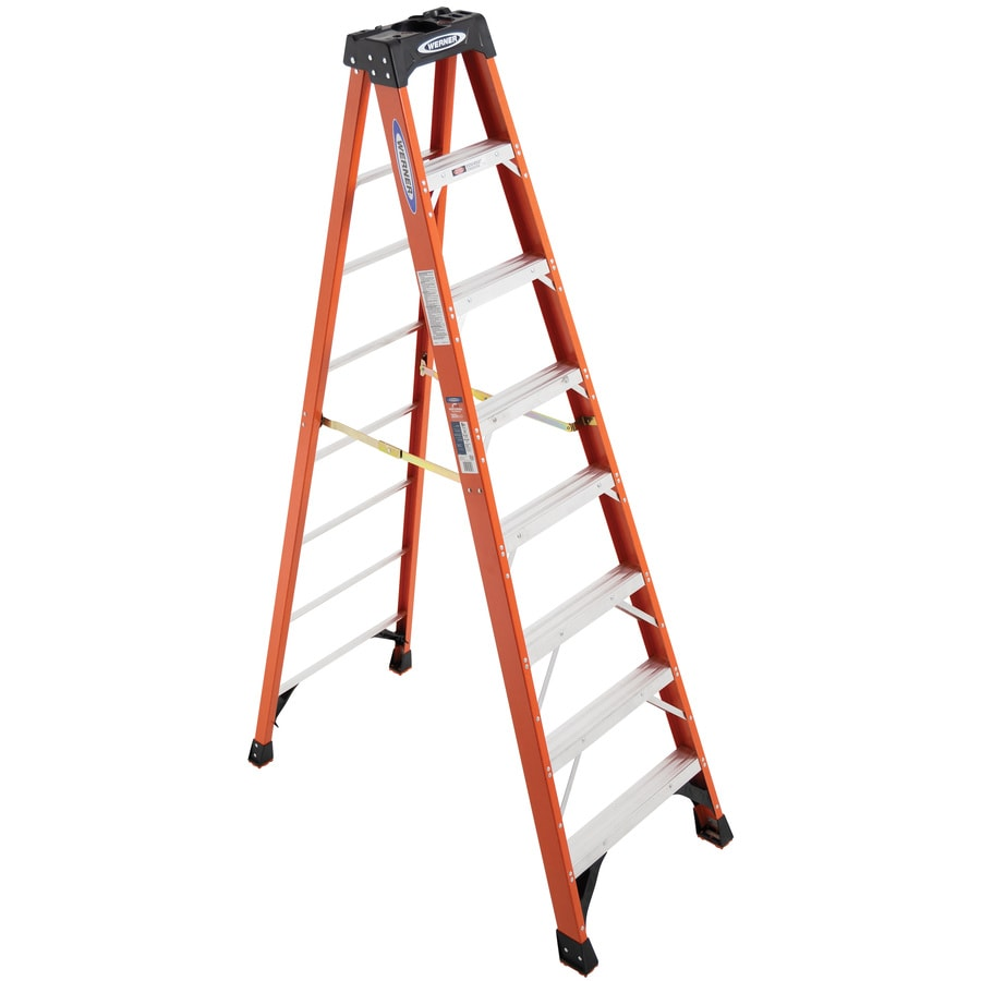 Shop Werner 8 Ft Fiberglass 300 Lb Type Ia Step Ladder At