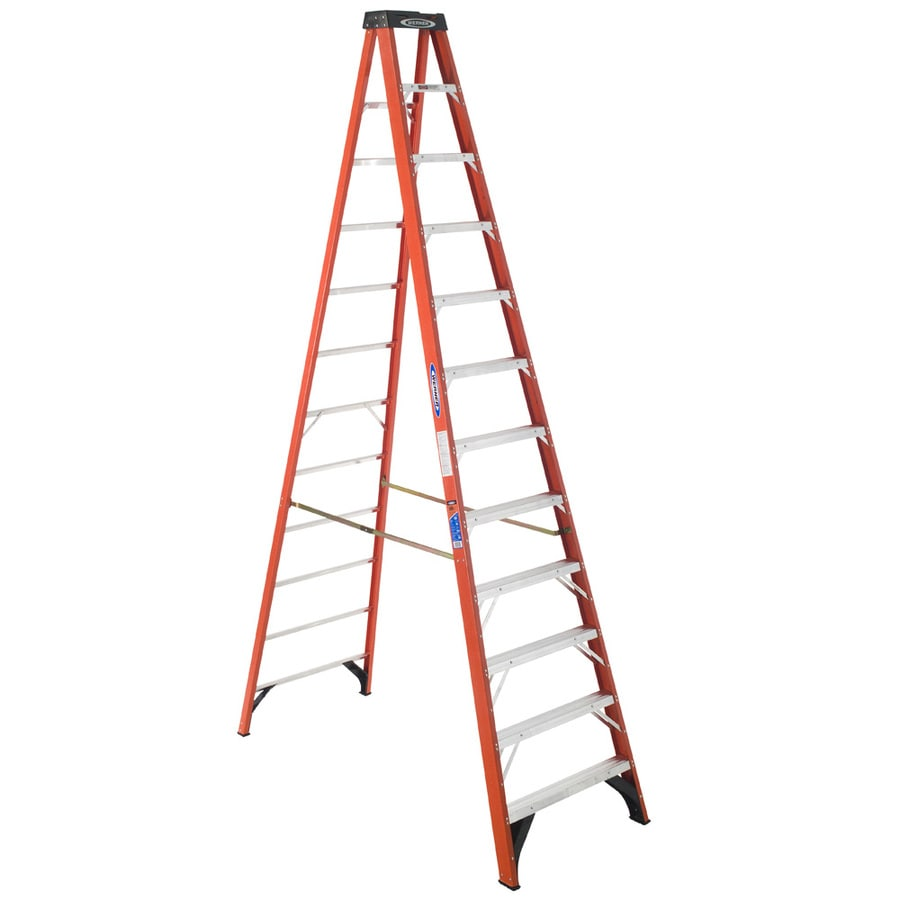 Werner 12-ft Fiberglass 300-lb Type IA Step Ladder