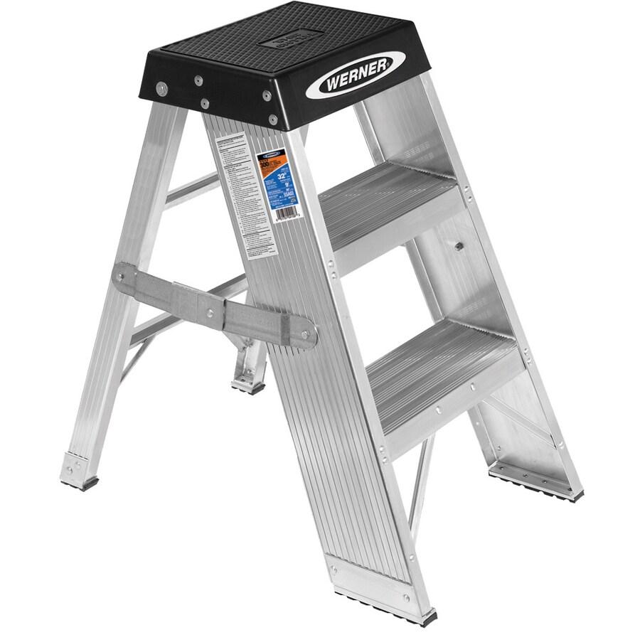 Werner 3-ft Aluminum 375-lb Type IAA Step Ladder