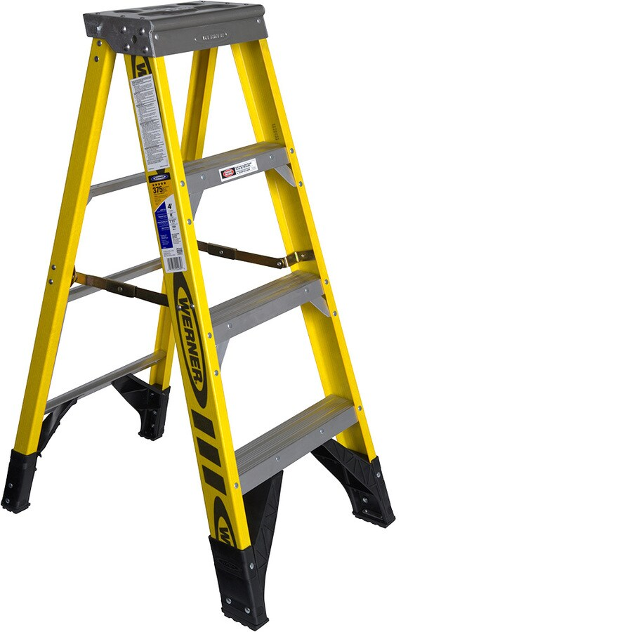 Werner 4-ft Fiberglass 375-lb Type IAA Step Ladder