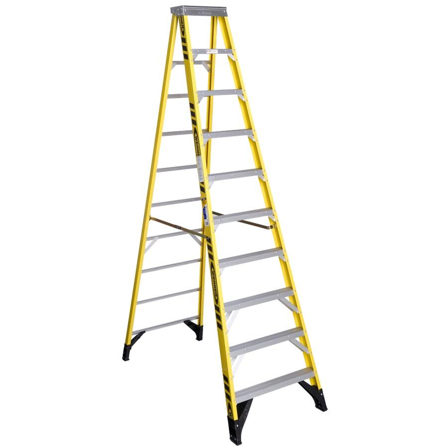 Werner 10-ft Fiberglass 375-lb Type IAA Step Ladder