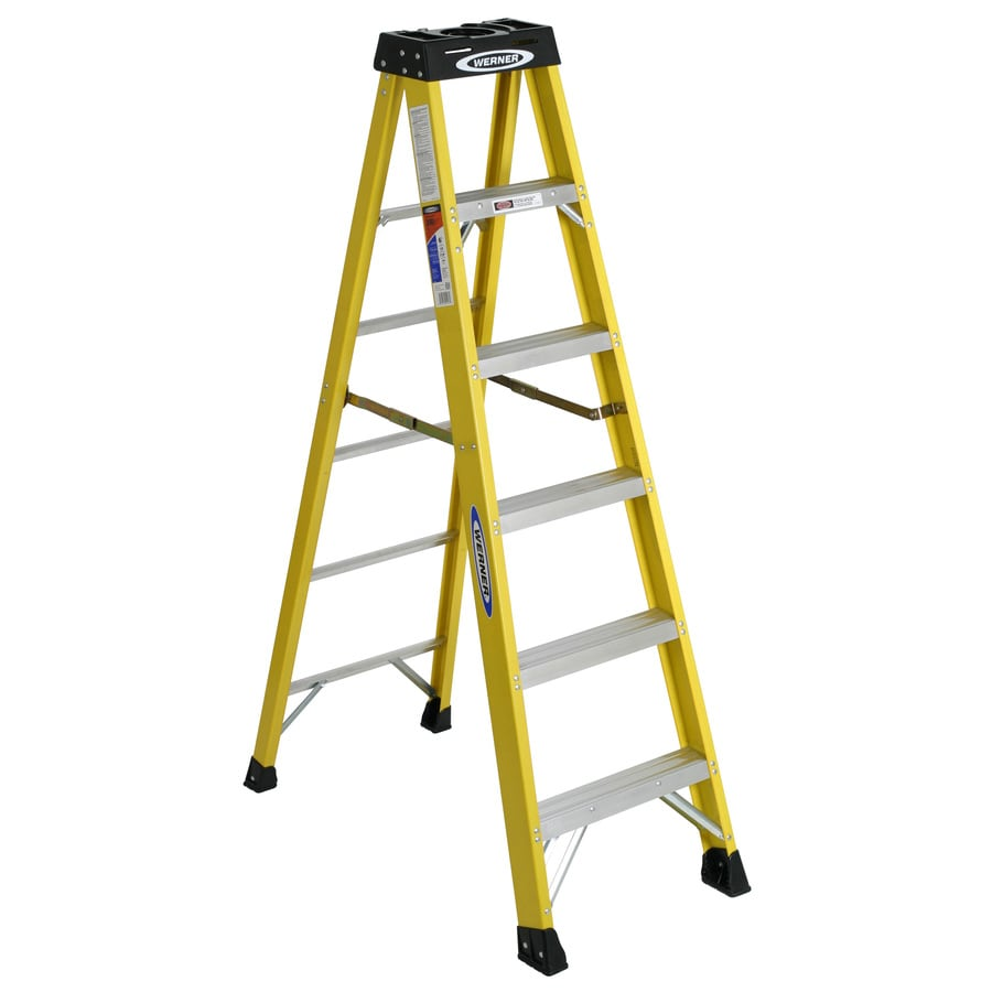 Werner 6-ft Fiberglass 300-lb Type IA Step Ladder