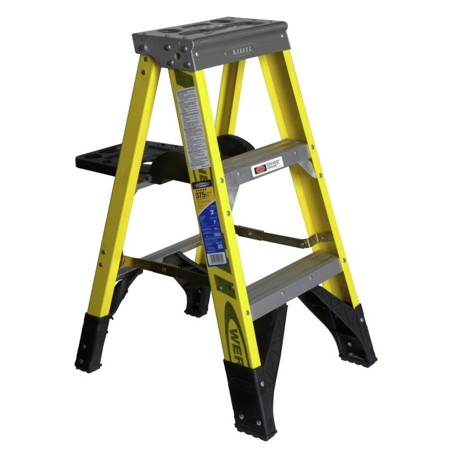 Werner 3-ft Fiberglass 375 Lbs. Type Iaa Step Ladder