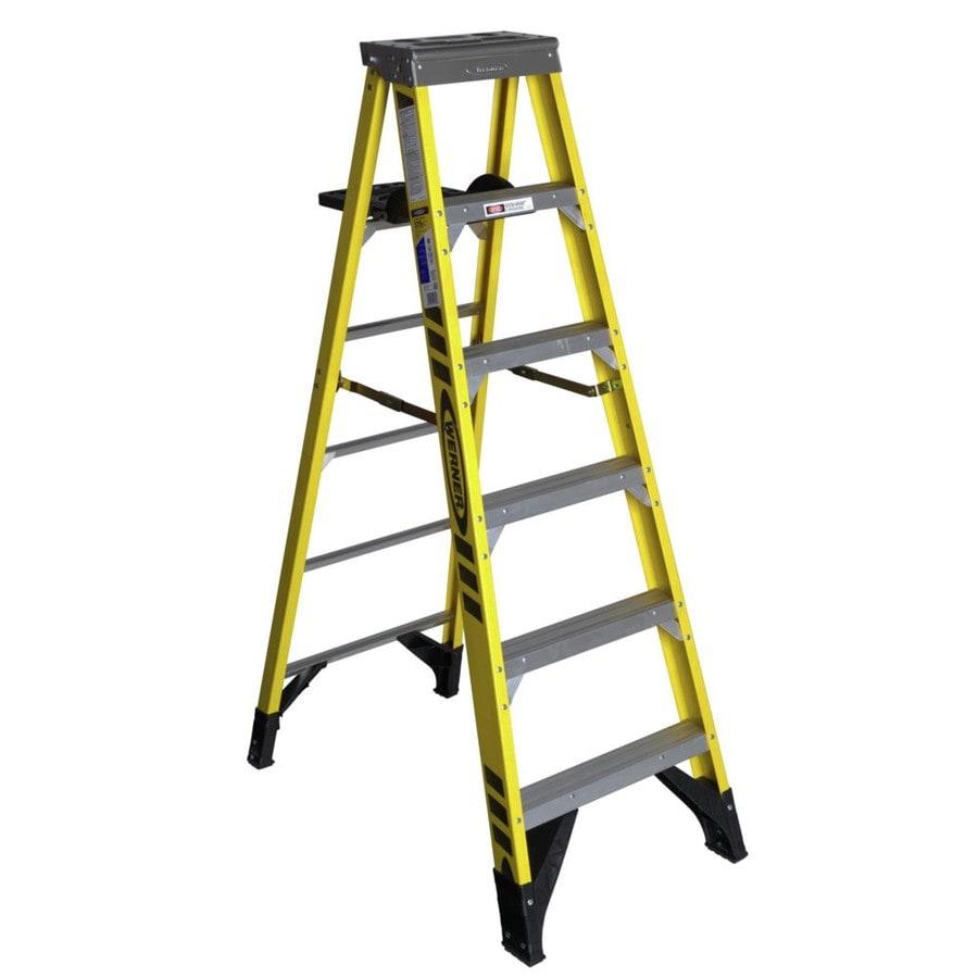 Shop Werner 6 Ft Fiberglass 375 Lbs Type Iaa Step Ladder